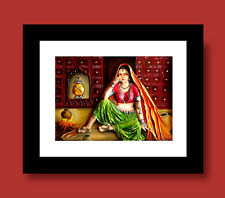 Rajasthani Village Lady MATT Framed/Rolled Canvas(option)Painting by Dreamzdecor