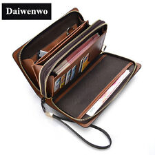 New s Clutch Bag Men Wallets Black Brown Luxury Large Capacity Gift For Male Dou