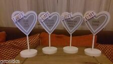 Shabby Chic Wooden Heart Shaped LOVE / HOME Free Standing Statue Ornament