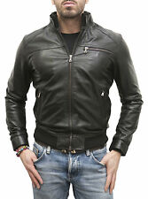 Giacca Giubbotto in di Pelle Uomo Men Leather Jacket Veste Homme Cuir mdSM2Sp1