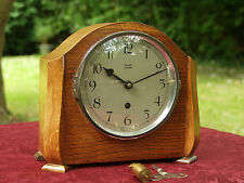 ** 1930's Davall Of London Oak Cased Mantel Clock ** Timepiece Only **