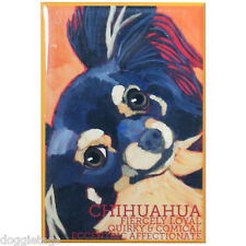 Chihuahua - Dog Portrait - Fridge Magnet - Reproduction Oil Painting