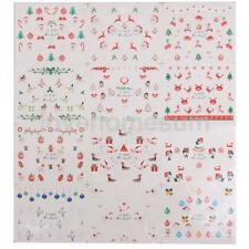 Nail Art Adesivo Adesivi Natale 3D Stickers Unghie Water Decal Misto Manicure