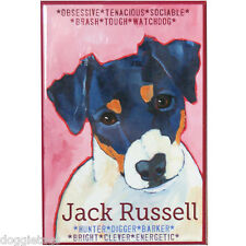 Jack Russell - Dog Portrait - Fridge Magnet - Reproduction Oil Painting