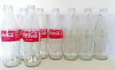 Collection 9 x EMPTY COCA COLA GLASS BOTTLES 330ml Free postage