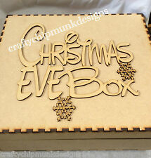 Nan Christmas Eve Box 150x150x100 Mm Mdf Can Be Personalised Topper Included