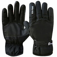 Leather Palm Cold Weather Biker Motorcycle Cycling Winter Windproof Gloves