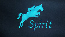 Personalised Embroidered Horse Pony Fleece Rug With Your Name/Horses Name - Navy