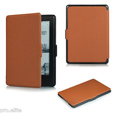 "ProElite Flip case cover for Amazon Kindle E Reader 6"" 8th Generation 2016 Brown"