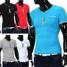 T-shirt uomo maniche corte polo stretch slim fit clubwear maglia Colored Club