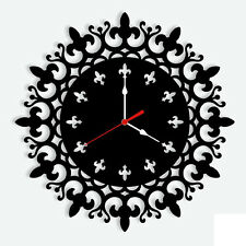 Design Modern Wall Clock  Acrylic-LaserCraftStore-A1077 Multi Color