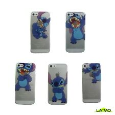 COVER Custodia CON LILO E STITCH RIGIDA Sottile SEMITRASPARENTE Per APPLE iPHONE