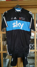 Team Sky Cycling Replica Long Sleeve Jersey / Bib set With Tags
