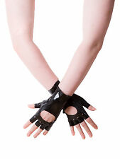 Raw Moulded Rubber Men's Rugged Fingerless Gloves in Rubber Black Raunchy Fetish