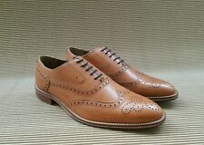 M&S Luxury Collection Tan Leather Brogue Shoes UK8,10 w/o box new Authentic