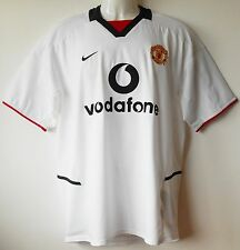 Manchester Utd Football Shirt Vintage 2002-03 Away Strip Official Authentic M