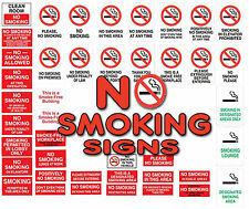 No Smoking / designated smoking area smoking prohibated wall stickers signs