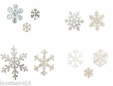 Pack of 2 or 3 Snowflakes Christmas Xmas Motif Patch Applique Sew/Iron on