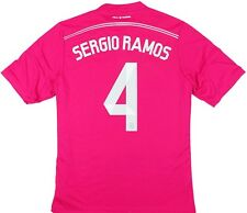 Maglia Calcio Football Shirt Real Madrid 2014-2015 Sergio Ramos #4 Fifa WC