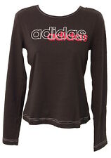 ADIDAS LADIES LARGE LOGO LONG SLEEVE TEE blouse WITH A HANDY BAG RRP  £30
