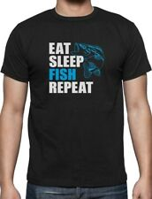 Gift for Fisherman Eat Sleep Fish Repeat Fishing T-Shirt Funny
