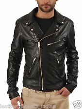 Men Fashion Slim Biker Motorcycle Short Blazer Leather Jacket Style Hollywood