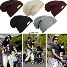 New Unisex Women Knitted Winter Warm Ski Slouch Oversized Beanie Cap Hat CCYE