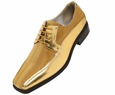 Viotti Men's Gold Dress Oxford with Striped Satin & Patent Trim : Style 179-035