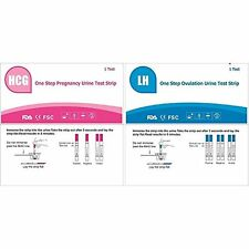 AccuMed Combo 50 Ovulation (LH) & 20 Pregnancy (HCG) Test Strips