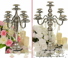 Traditional 5 & 3 Arm Wedding Candelabra Candle Holder Centrepiece 2 Designs New