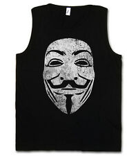 GUY FAWKES MASK VINTAGE TANK TOP - V For Wie Anonymous Vendetta Maske UK T-Shirt