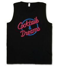 COCKTAILS & DREAMS COCKTAIL MOVIE LOGO TANK TOP - Tom Film 80s Cruise Kult Shirt