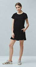 Brand New MANGO BLACK Pocket denim dress Tunic S-M-L