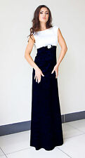 Ladies Womens Wedding Gown Party Elegant Evening Prom Maxi Dress Size 8 - 22