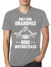 Only Cool Grandpas Ride Motorcycles - Biker Papa Gift Idea V-Neck T-Shirt