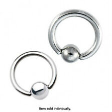 Surgical Steel Captive Bead Ring 12G - 4G