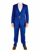 AUSTIN REED Mens Blue Sharkskin 2 Two Piece Office Suit Jacket and Trousers NEW