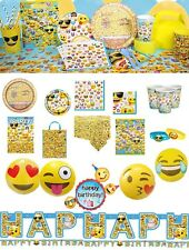 Emoji Birthday Party Supplies Smiley Face Icon Tablecover Plates Napkins Cups