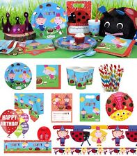 NEW Ben and Holly Birthday Party Ladybird Tableware Supplies Plates Napkins Cups