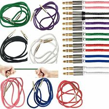 1M 3.5mm Jack Plug To Plug Male Audio Cable For Headphone/MP3/iPod/iPhone