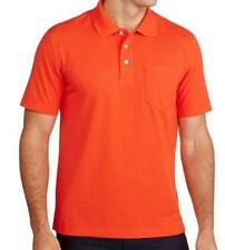 Maddock - Orange Polo Neck T-Shirt with collar and pocket
