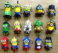 Cartoon Hero Minions 8/16/32/64GB USB 2.0 Flash Drive Memory Stick Gift