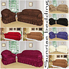 QUILTED SOFA SLIP COVERS Jacquard 1,2,3 Seater Sofa Cover Pet Protector