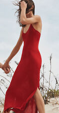 ZARA 2016 Limited Edition Red Double Strap Long Slip Dress S or M BNWT