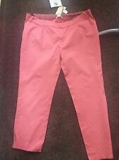SALE! BNWT MAMAS AND PAPAS MATERNITY PINK CHINO JEANS TROUSERS SIZE 12