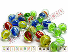 100/50 HI-QUALITY MILKY Coloured MARBLES Kids Glass Toys Traditional Games Retro