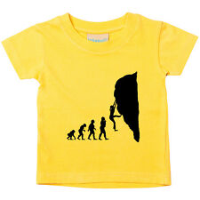 Female Rock Climber Evolution Baby Toddler Tee T-Shirt Gift Extreme Sports TS233