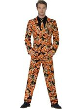 ORANGE PUMPKIN MEN'S STAND OUT SUIT HALLOWEEN FANCY DRESS PARTY COSTUME
