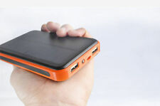 100000mah Portable Dual USB Solar Power Bank External Battery Charger for iPhone