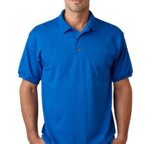 Maddock - Blue Polo Neck T-Shirt with collar and pocket